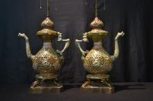 (Pr) RETICULATED FISCHER ? EWER LAMPS WITH