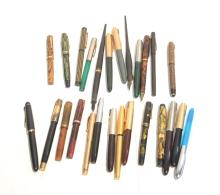 ASSORTED FOUNTAIN PENS INCLUDING PARKER