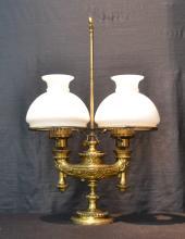BRONZE DOUBLE STUDENT LAMP - 16