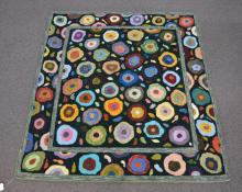 MULTI COLOR HOOKED RUG BY ESTHER FORMAN
