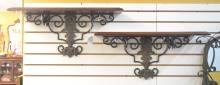(Pr) IRON & WOOD WALL BRACKETS