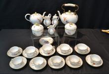 (29)pc FLORAL MEISSEN TEA SET WITH FLOWER
