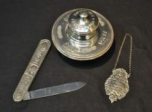(3)pc JUDAICA STERLING SILVER LOT INCLUDING