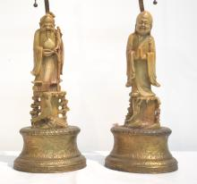 (Pr) FIGURAL SOAPSTONE LAMPS