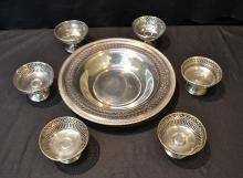 RETICULATED STERLING SILVER FRUIT BOWL WITH