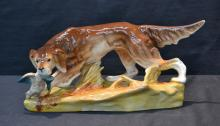 ROYAL DUX DOG WITH BIRD - 14
