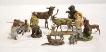 GROUP LOT OF COLD PAINTED MINIATURE BRONZE ANIMALS