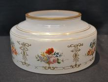 EARLY BOHEMIAN OPALINE BOWL WITH HAND PAINTED