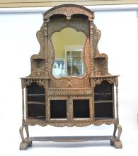 LARGE ANGLO INDIAN MOSCAIC ETAGERE WITH