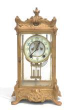 NEW HAVEN CLOCK Co. BRONZE & CRYSTAL REGULATOR