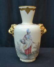 HAND PAINTED ROYAL CROWN DERBY VASE WITH