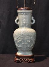 CHINESE CELADON LAMP - 6