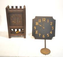 (2) MISSION STYLE CLOCKS