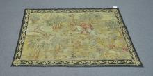 ANTIQUE NEEDLEPOINT WALL HANGING WITH