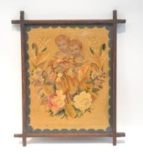 VICTORIAN NEEDLEWORK & PAPER OF (2) GIRLS