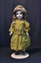 GERMAN BISQUE HEAD DOLL WITH JUMEAU FACE ,