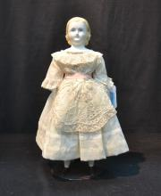 BISQUE SHOULDER HEAD DOLL WITH BISQUE