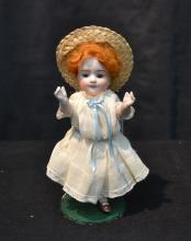 ALL BISQUE KESTNER DOLL WITH 2 MOLDED TEETH
