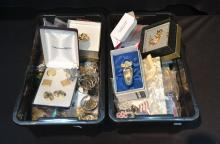 (2-BOXES) ASSORTED COSTUME JEWELRY