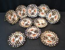 (10) ROYAL CROWN DERBY LUNCHEON PLATES - 8 1/4