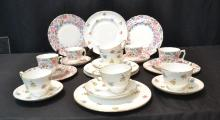 (27)pcs OF STAFFORDSHIRE PLATES , CUPS & SAUCERS