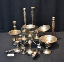 WEIGHTED STERLING SILVER LOT INCLUDING