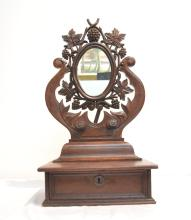 VICTORIAN WALNUT MIRROR SHAVING MIRROR