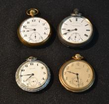 POCKET WATCHES TO INCLUDE (2) WALTHAM , ADMIRAL &