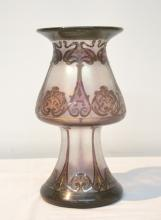 ART NOUVEAU STYLE ART GLASS VASE ; SIGNED