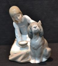 LLADRO GIRL WITH DOG - 6