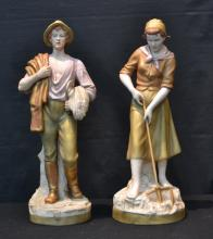 (Pr) ROYAL DUX FIGURES OF MAN & WOMAN WITH