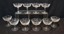 (10) WATERFORD CHAMPAGNE GLASSES
