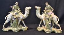 (Pr) TEPLTIZ? PORCELAIN ARABS ON CAMEL BACK