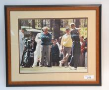 TIGER WOODS & ARNOLD PLAMER 16 x 20 FRAMED &