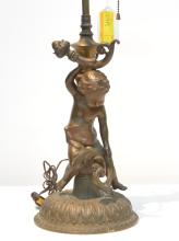 BRONZE PUTTI FORM LAMP - 19