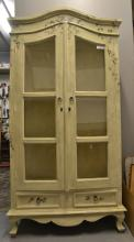 FLORAL HAND PAINTED 2-DOOR CABINET