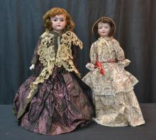 (2) GERMAN BISQUE DOLLS TO INCLUDE SHOULDER HEAD