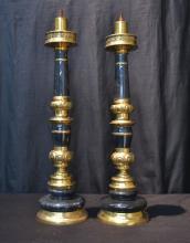 (Pr) MARBLE & BRASS LAMPS - 6