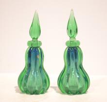 (Pr) VENETIAN GLASS PERFUME BOTTLES - 10 1/4