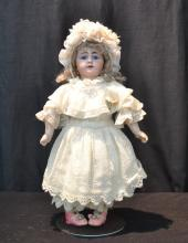 GERMAN SIMON HALBIG BISQUE HEAD DOLL WITH