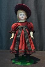 GERMAN SIMON HALBIG CLOSED MOUTH BISQUE HEAD DOLL