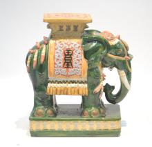 GREEN ORIENTAL ELEPHANT GARDEN SEAT