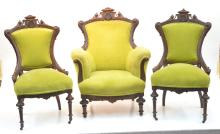 (3)pc EASTLAKE VICTORIAN PARLOR CHAIRS INCLUDING