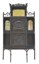VICTORIAN HEAVILY CARVED MUSIC CABINET ETAGERE