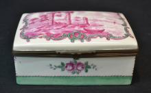 HAND PAINTED SEVRES FRANCE HINGED BOX WITH