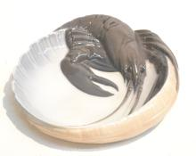 ROYAL COPENHAGEN LOBSTER DISH ; ARTIST SIGNED
