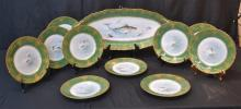 HAND PAINTED THEODORE HAVILAND LIMOGES FISH SET