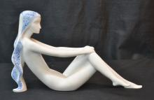 ROYAL DUX FIGURINE OF RECLINING NUDE