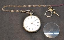 KEYWIND SILVER POCKETWATCH No. 13949