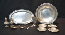 STERLING LOT - ALVIN STERLING SILVER BOWL , TRAY,